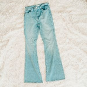 Levis Light Wash High Rise Flare Jean
